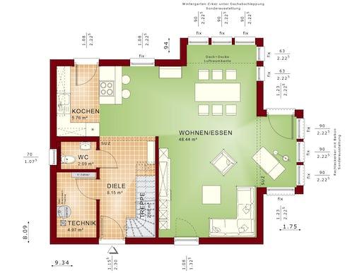 solution 124 v2 von living haus by bien zenker satteldach. Black Bedroom Furniture Sets. Home Design Ideas