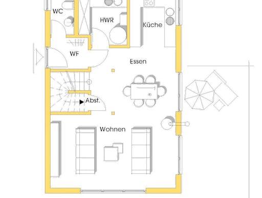 nicole kfw effizienzhaus 55 von dammann haus satteldach. Black Bedroom Furniture Sets. Home Design Ideas