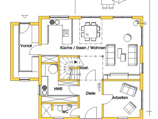 christine 1 kfw effizienzhaus 55 von dammann haus stadtvilla. Black Bedroom Furniture Sets. Home Design Ideas