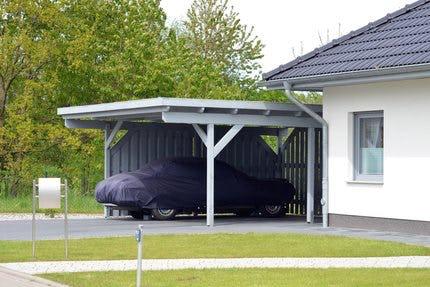 h user mit carport auf. Black Bedroom Furniture Sets. Home Design Ideas