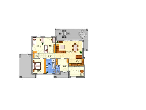 B von fingerhut haus bungalow flachdach for Floor plans for 160 000