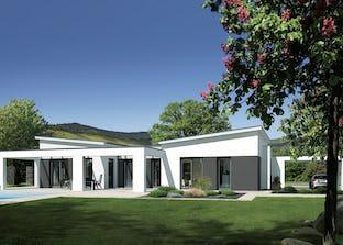 open mh fellbach von luxhaus pultdach. Black Bedroom Furniture Sets. Home Design Ideas