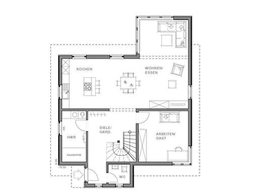 freiraum cube von meisterst ck haus klassiker satteldach. Black Bedroom Furniture Sets. Home Design Ideas